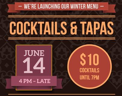Kremlin Bar Winter Menu Launch Poster