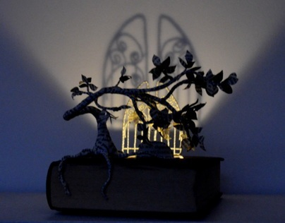 Descent into the Underworld Book Sculpture