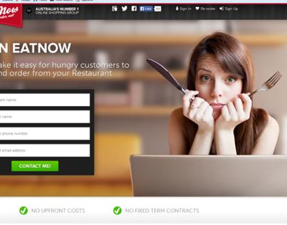 EatNow.com.au Restaurant Signup Page
