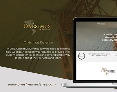 Onésimus Defense website design and development