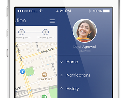 ios7 app design concept (Free psd)