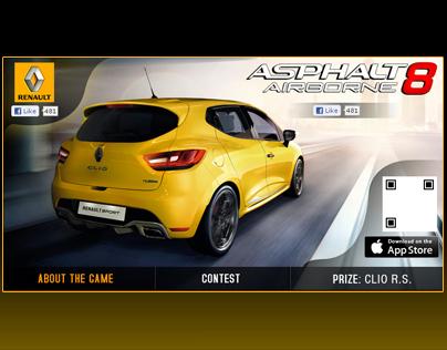 Asphalt 8 & Renault Clio Contest Facebook Page Tab