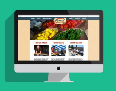 Hillsboro Farmers' Market Website Redesign