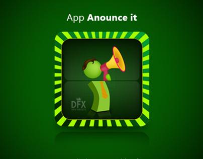 Anounce it App icon