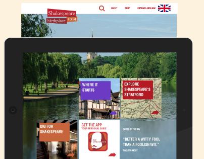 Shakespeare Birthplace Trust Web Concept