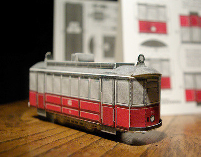 Tramwaj typu Brown Boveri, Bielsko-Biała, model 3D