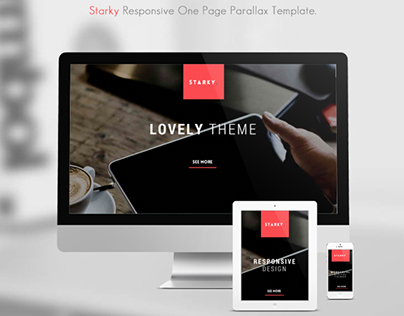 STARKY. Responsive One Page Parallax