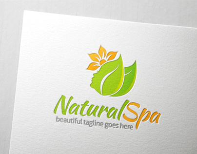 Leaf and Flower Beauty Spa Logo