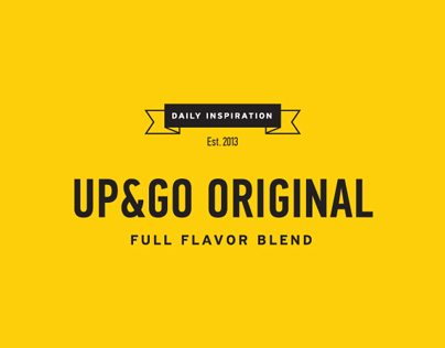 Packaging for UP&GO Coffee