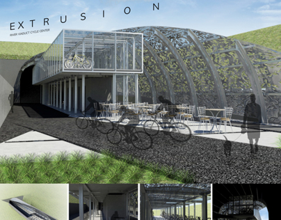 Extrusion - River Viaduct Cycle Center