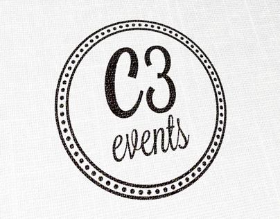 C3 Events Logo Design