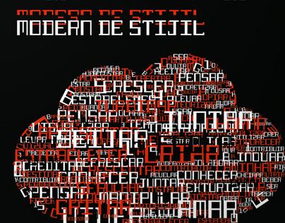 Cartaz Tipográfico - Modern de Stijil