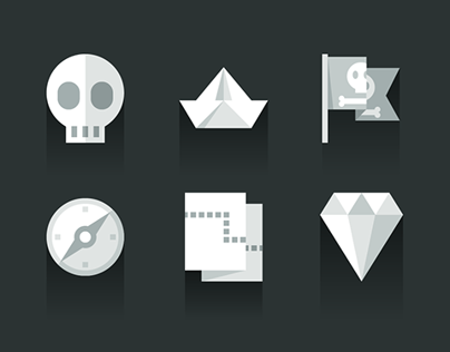 Flat Shadows, a series for to [icon]