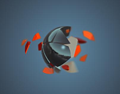 Fractured Sphere Logo Reveal