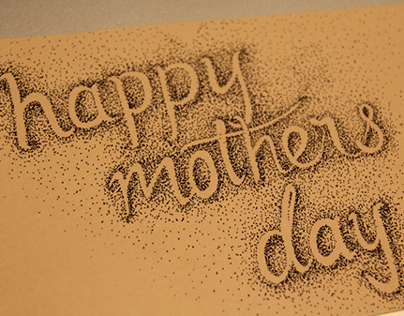 Mother's Day Card - Typographic Pointilism