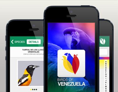 Birds of Venezuela App Design