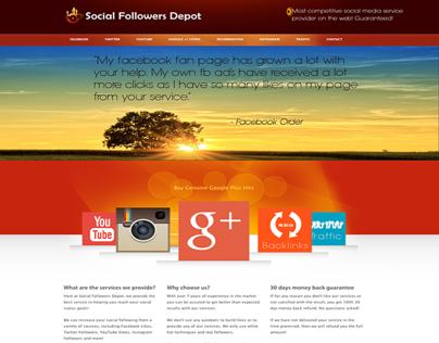 Social Followers Depot | Wordpress Site Setup