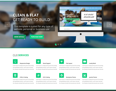 Captain One Page Psd Template