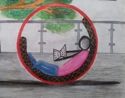 Furniture 2 : See-through lounge chair