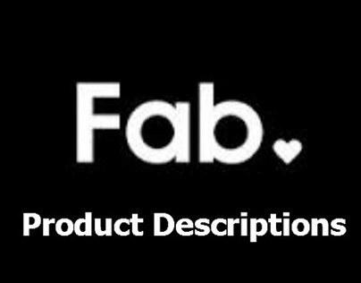 FAB.COM - Product Descriptions, Fashion + Home + Art