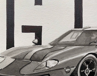 Ford GT40 Illustration