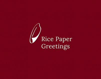 Rice Paper Greetings
