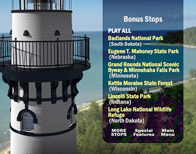 Parklands of the Midwest | Making of 3D Lighthouse Menu
