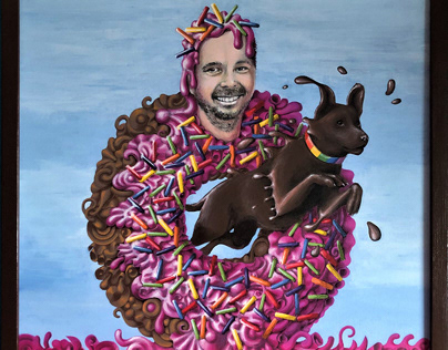 A donut-man