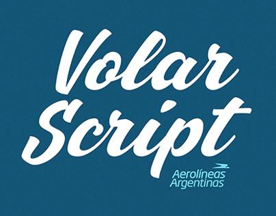 «Volar Script» Typeface / Aerolíneas Argentinas