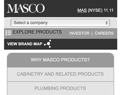 Masco | Mobile Wireframes