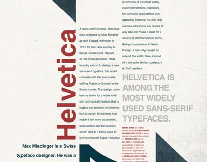 Helvetica Type Poster