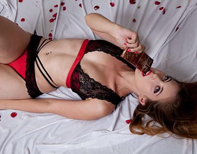 Dark seduction - Valentine lingerie 2015 collection