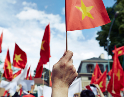 Vietnamese protests against china aggression!