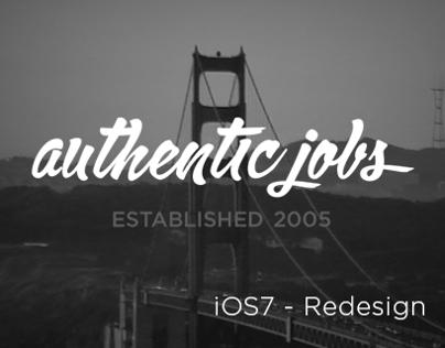 Authentic Jobs - iOS7 Redesign