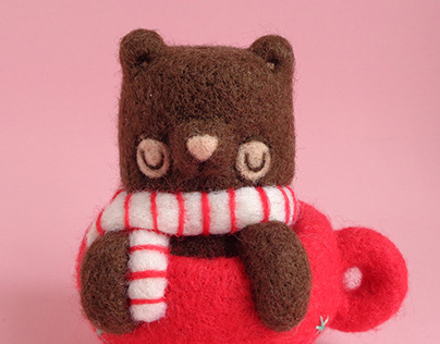 Hot Cocoa Bear Art Toy
