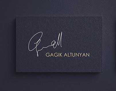 GAGIK ALTUNYAN Website & Business Card