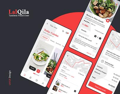 Restaurant App (LalQila) UX/UI Interaction Design