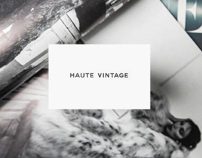 Haute Vintage - Branding