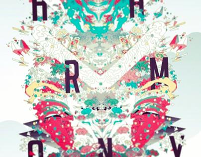 Generative art poster series