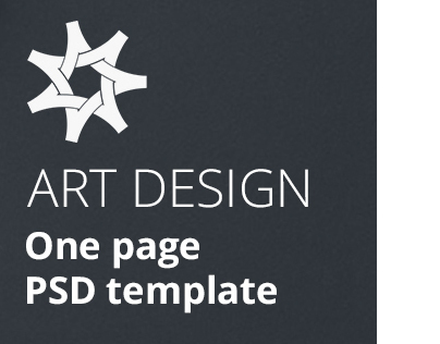 ART DESIGN - One page Template