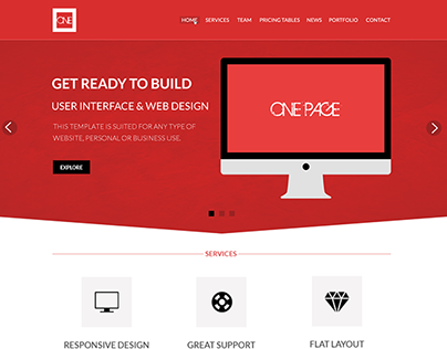 Red Business Psd Template