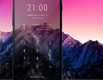 Android PIN lockscreen makeover