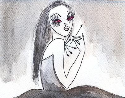La chica Budú.  Illustration