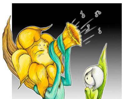Character Design: Daffodil & Snowdrop