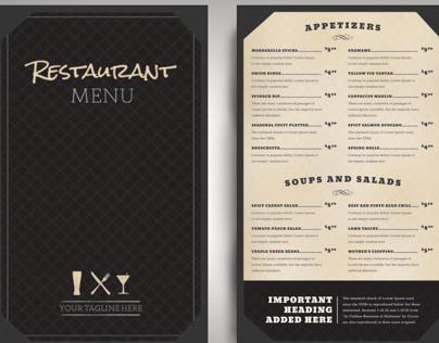 Restaurant Menu Classic