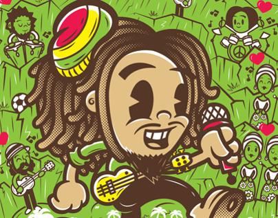 Bob Marley, pintando con el corazón