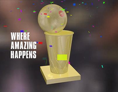 Speed Modeling 001 - NBA Finals Trophy