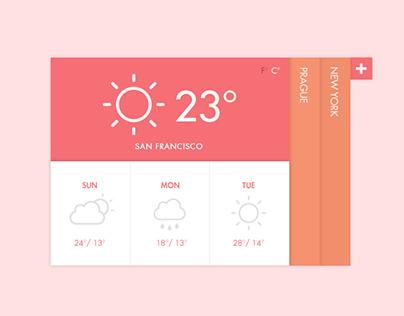 Flat Weather Widget