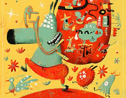 Poster for children's movie festival