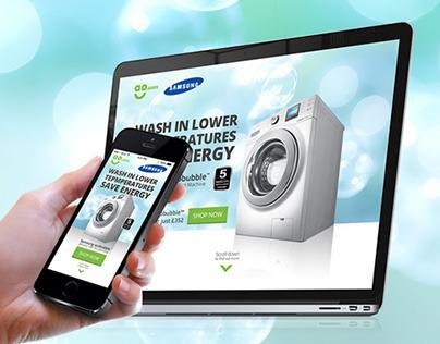 Samsung ecobubble Landing Page